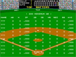 High Score Screen for Super Baseball Double Play Home Run Derby.