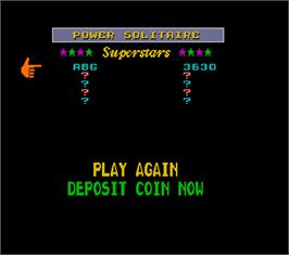 High Score Screen for Super Megatouch IV.