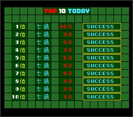 High Score Screen for Super Othello.