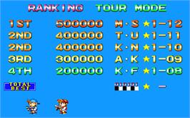 High Score Screen for Super Pang.