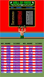 High Score Screen for Super Punch-Out!!.