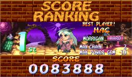 High Score Screen for Super Puzzle Fighter II Turbo.