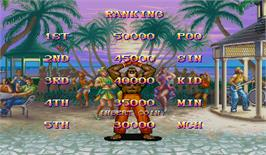 High Score Screen for Super Street Fighter II: The Tournament Battle.