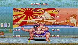 High Score Screen for Super Street Fighter II Turbo.