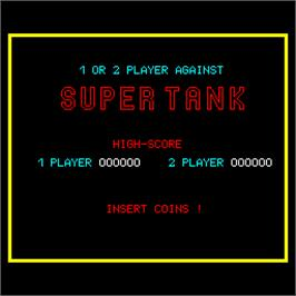 High Score Screen for Super Tank.