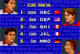 High Score Screen for Super Volley '91.