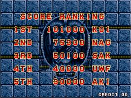High Score Screen for Superior Soldiers.
