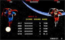 High Score Screen for Superman.