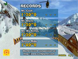 High Score Screen for Surf Planet.