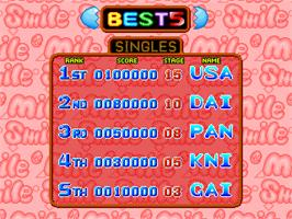 High Score Screen for Susume! Mile Smile.