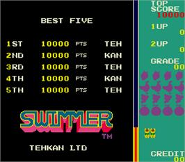 High Score Screen for Swimmer.