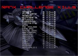 High Score Screen for T-MEK.