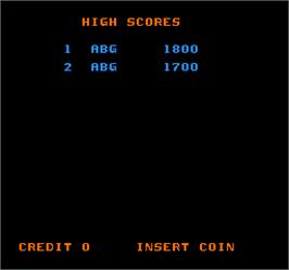 High Score Screen for Tapper.