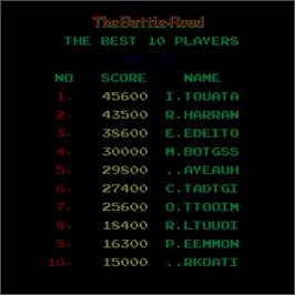 High Score Screen for The Battle-Road.