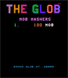 High Score Screen for The Glob.