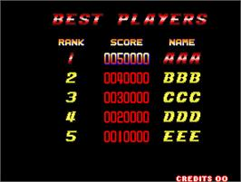 High Score Screen for The History of Martial Arts.