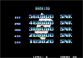 High Score Screen for The King of Fighters '94.