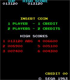 High Score Screen for Tip Top.