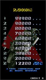 High Score Screen for Tokusyu Butai U.A.G..
