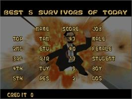 High Score Screen for Tondemo Crisis.