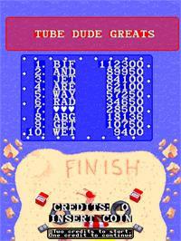 High Score Screen for Toobin'.