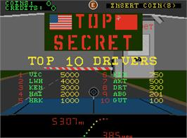 High Score Screen for Top Secret.