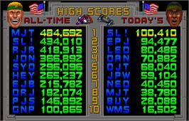 High Score Screen for Total Carnage.