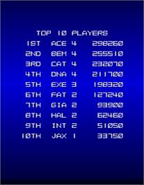 High Score Screen for Trigon.