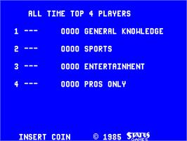 High Score Screen for Triv Four.