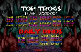 High Score Screen for Trog.