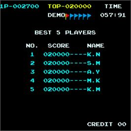 High Score Screen for Tropical Angel.