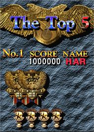 High Score Screen for Twin Eagle II - The Rescue Mission.