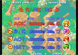 High Score Screen for Twinkle Star Sprites.
