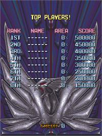 High Score Screen for V-Five.