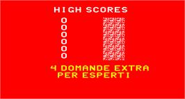 High Score Screen for Video Quiz.