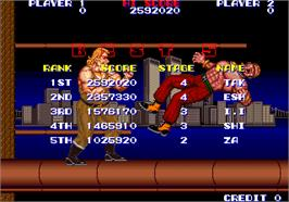 High Score Screen for Violence Fight.