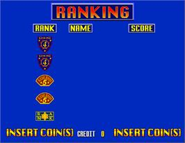 High Score Screen for Virtua Cop 2.