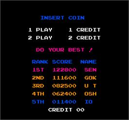 High Score Screen for Vs. Hogan's Alley.