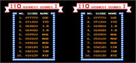 High Score Screen for Vs. Ice Climber Dual.