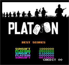 High Score Screen for Vs. Platoon.