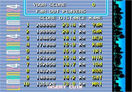 High Score Screen for WEC Le Mans 24.