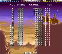High Score Screen for West Story.