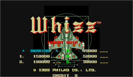 High Score Screen for Whizz.