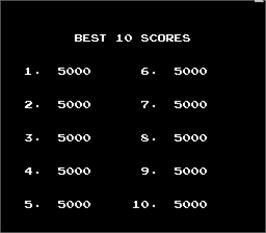 High Score Screen for Wily Tower.