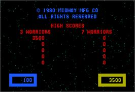 High Score Screen for Wizard of Wor.