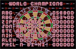 High Score Screen for World Darts.