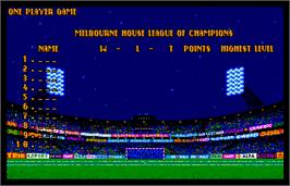 High Score Screen for World Trophy Soccer.