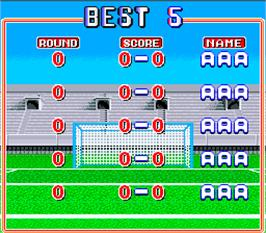 High Score Screen for Worldcup '90.