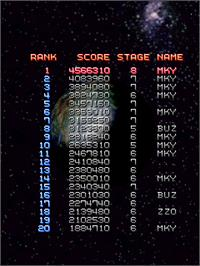 High Score Screen for XII Stag.