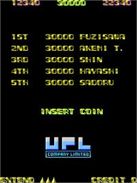High Score Screen for XX Mission.